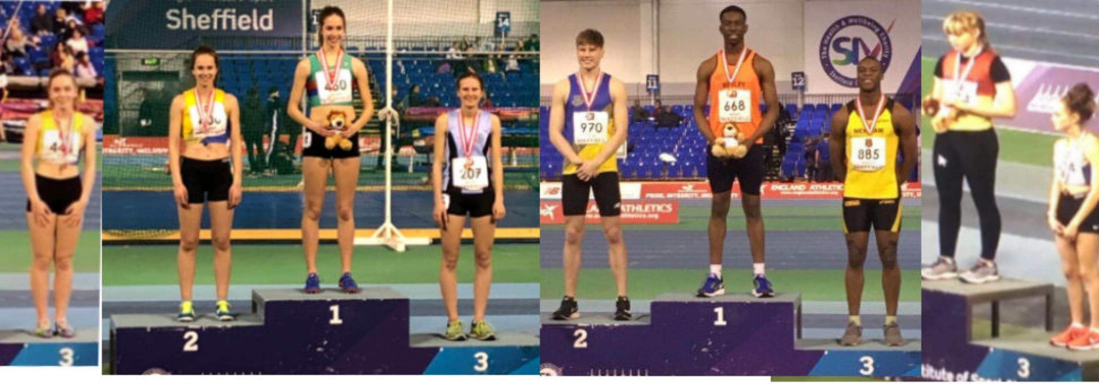 Medalists from 2018 English Indoor Athletics Championships (age Groups)